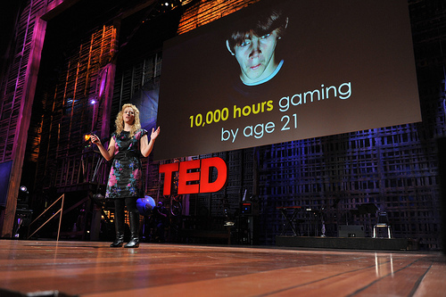 A still from Jane McGonigal's famous TED presentation