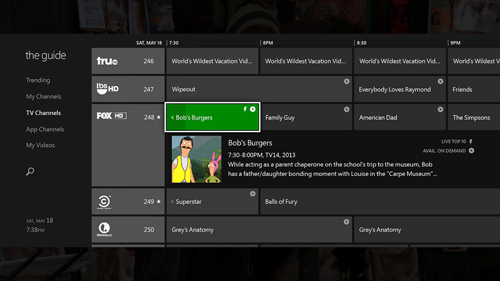 Xbox one tv integration