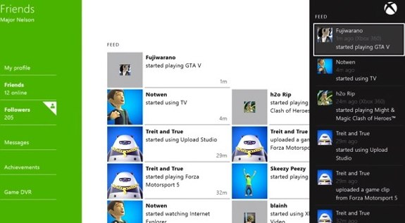 xbox one friends list